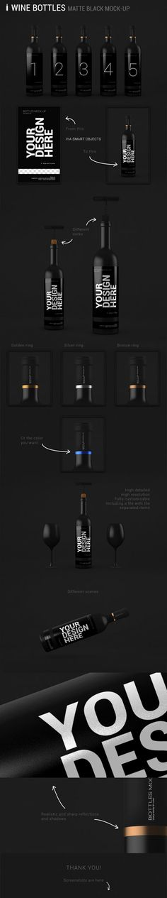 Wine Bottles Mock-up by SynthDesign on DeviantArt
