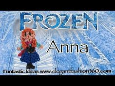 Rainbow Loom Princess Anna (Frozen) Figure/Charm - How to - http://rainbowloomsale.com/rainbow-loom-princess-anna-frozen-figurecharm-how-to/