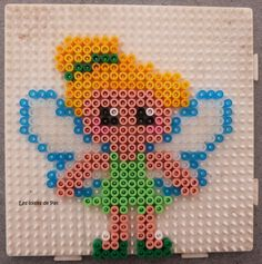 Tinker Bell hama beads by Les Loisirs de Pat