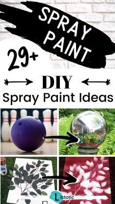 Over 30 spray paint ideas for you to DIY this fall. Great spray paint gifts and home improvements. Restore and refurbish old furniture with simple spray paint techniques. Fun and easy crafts anyone can do. Stay on budget with simple spray paint tips and tricks. Spray Paint Techniques, Spray Paint Tips, Spray Paint Projects, Spray Painting, Painting Tips, Arts And Crafts Projects, Diy Projects, Handyman Projects, Easy Diy Crafts