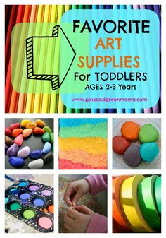* Making Art At Home: My Favorite Art Supplies for Toddlers