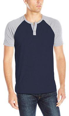 Lucky Brand Men's Grey Label Ss Baseball Shirt, Navy Blazer, Large Best Price