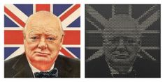 Mill your favorite pictures into wood with the online web-app from #Halvtone #winstonchurchill #england #unionjack #blackwhite #wood #interior #design  #living #milling #CNC #machine #webapp