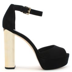 432343d0652f Buy the Michael Kors Paloma Black Suede Platform Sandals online today at  Daniel Footwear
