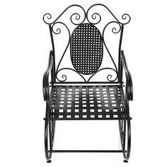 Songmics Feuteuil / demir sallanan sandalye Balkon Bahçe Odası GRC101B: Amazon.fr: Mutfak