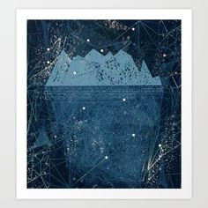 space iceberg Art Print by Bunny Noir. Worldwide shipping available at Society6.com. Just one of millions of high quality products available.