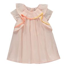 Percale Ruffle Dress Chloé Baby- A large selection of Fashion on Smallable, the Family Concept Store - More than 600 brands.