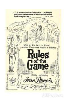 THE RULES OF THE GAME, (aka LA REGLE DU JEU), US re-release poster art, 1939 Affiches sur AllPosters.fr