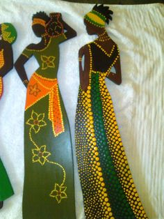 Vi tror, at du vil synes om disse pins Dot Art Painting, Mandala Painting, Painting Patterns, Fabric Painting, Black Women Art, Black Art, Rasta Art, African Colors, Afrique Art