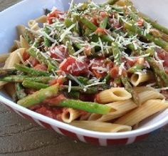 Recipe of the Day: Penne with Asparagus Sauce