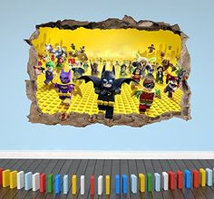 Shop for Lego Batman Kids Smashed Wall Sticker Boys Girls Bedroom Decal - Extra Large Landscape (w) X (h). Compare live & historic home prices.