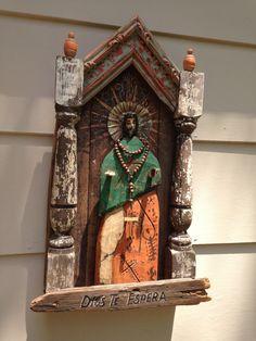 Spanish Colonial Folk Art Retablo Bulto Altar Nicho by Art4thesoul