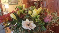 Frische Frühlingsblumen schmücken unsere Rezeption! Plants, Front Desk, Schmuck, Plant, Planets