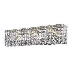 Elegant Lighting Maxim 6 Light Wall Sconce Crystal