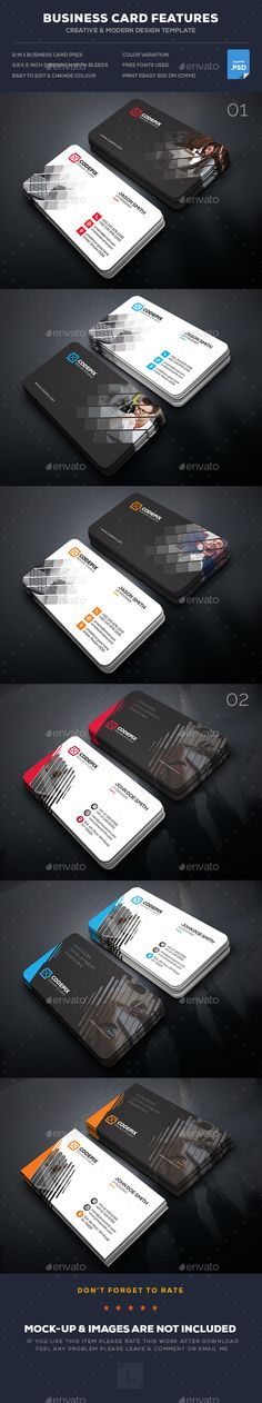 Corporate Business Card Templates PSD Bundle. Download here: https://graphicriver.net/item/corporate-business-card-bundle/17402753?ref=ksioks