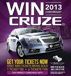 WIN a new 2013 Chevrolet Cruze in Newmarket with NewRoads! #ChevroletCruze