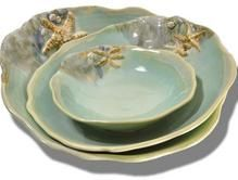 Handmade pottery seashell dishes, seashell bowls, ocean mugs, beach plates, tidal pool platters and much more. Sunflower collection is also available. Oven, dishwasher, and microwave safe. Made in Canada. Mussels & More Pottery Available at Heart of Gold Fine Jewelry in Stamford, CT http://www.heartofgoldfinejewelry.com