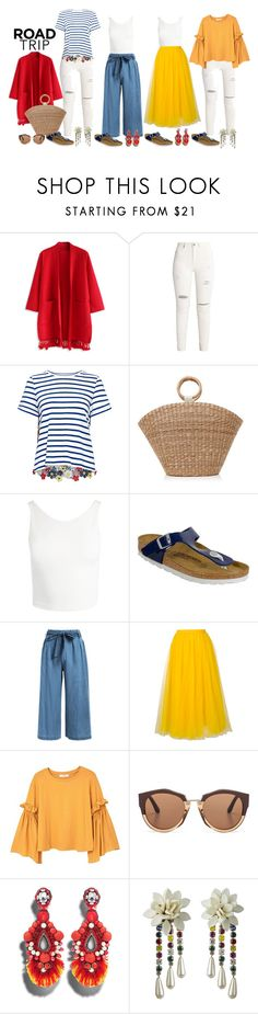 """""""Mix N Match and Travel Light!"""" by goodforyoursoul-life ❤ liked on Polyvore featuring Chicwish, Sea, New York, Aranáz, Sans Souci, Birkenstock, Rochas, MANGO, Marni and Ranjana Khan"""