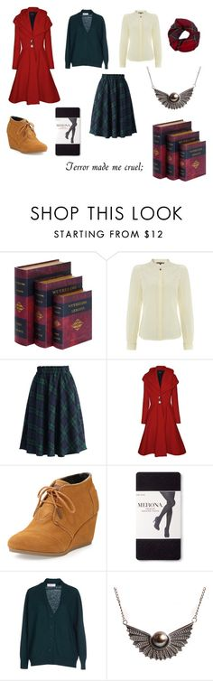 """""""Wuthering Heights"""" by juliesi ❤ liked on Polyvore featuring Biba, Chicwish, James Lakeland, TOMS, Merona, jucca, Lee Renee, Fevrie, books and charlottebronte"""