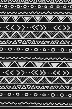 aztec wallpaper black and white - Google Search