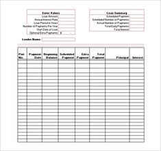 loan amortization schedule in excel 300 examples pinterest