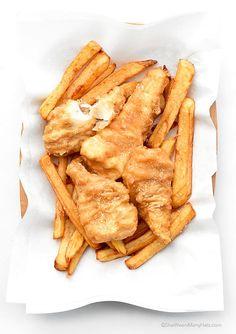 Crispy Beer Battered Fish and Chips