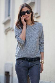 Grey outfit  #minimalist #fashion