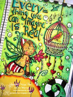 """mixed media prompt: """"everything you can imagine is real"""""""
