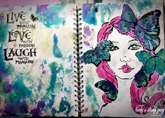 Art Journaling Tutorial by Tina Connolly | Lindy's Stamp Gang
