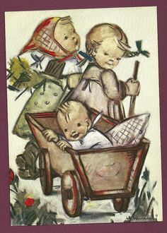 Vintage Hummel 'Happy Ride' Postcard   eBay
