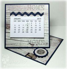 Stempeleinmaleins: Mini-Tischkalender / mini twisted easel calendar