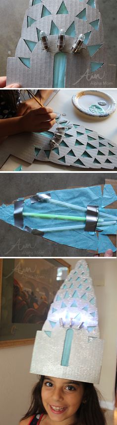 Chrysler Building Costume (headpiece tutorial) by Brenda Ponnay for Alphamom.com