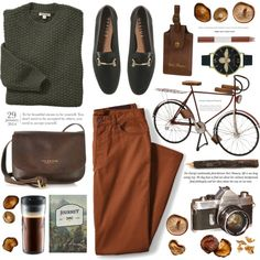A Walk in the Forest by monazor on Polyvore featuring Barbour, The Bridge, Ted Baker, Olivia Burton, Lands' End, Dot & Bo, Bodum and Faber-Castell