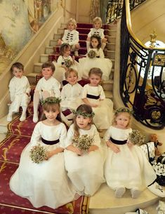 How adorable! White and burgundy velvet flower girl dresses and page boy outfits for a Winter wedding in London by French royal designer Little Eglantine Designer Flower Girl Dresses, White Flower Girl Dresses, Wedding Flower Girl Dresses, Flower Girls, Wedding Page Boys, Wedding Gift List, Vogue Wedding, Burgundy Flowers, Boy Outfits