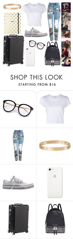 """мальчиков #10"" by pinka50822 ❤ liked on Polyvore featuring RE/DONE, Topshop, Cartier, Converse, Rimowa, Michael Kors and Kate Spade"