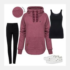 SHOP THE LOOK: www.94fashionstore.de Outfit, Hoodies, Sweaters, Polyvore, Shopping, Image, Women, Fashion, Autumn