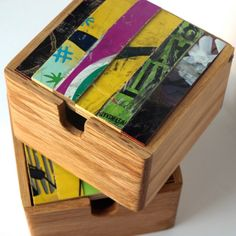 Recycled skateboard boxes