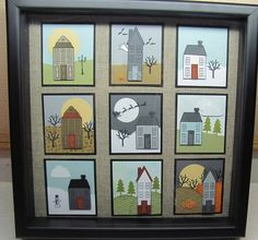 Holiday Home frame and Homemade Holiday Framelits Dies - Stampin' Connection Fall Cards, Christmas Cards, 3 D, Collage Frames, Collages, New Home Cards, Scrapbook Cards, Scrapbooking, 3d Paper Crafts