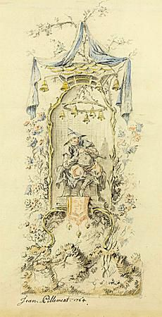 Jean-Baptiste PILLEMENT (Lyon 1728 - Lyon 1808) - A Chinoiserie Design, with a Seated O...