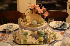 BARGAIN DECORATING WITH LAURIE: A PASTEL EASTER TABLESCAPE