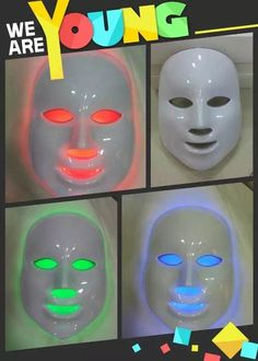 LED+Photon+Facial+Mask+Skin+Rejuvenation+LED+Lights+Therapy+with+7+Color+Treatments