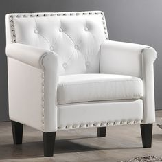 Baxton Studio - thalassa white modern arm chair $306.29,  overstock $221.12