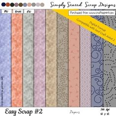 Easy Scrap  2   DIGIKIT Papers Pack on Craftsuprint - View Now! Packing, Scrapbook, Paper, Easy, Design, Bag Packaging, Design Comics, Scrapbooks