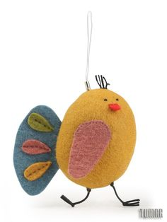 Mobile peacock.                                    Felt - 100% wool. Filler - hollofayber. Machine and hand assembly. Hand embroidery.Catalogue 2017 Simply magic  Tumar Art Group.