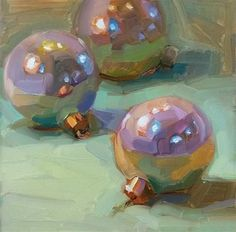"Daily Paintworks - ""Ornaments"" - Original Fine Art for Sale - © Holly Storlie Painting Still Life, Still Life Art, Christmas Paintings, Christmas Art, Art Pictures, Photos, Diy Arts And Crafts, Fine Art Gallery, Gouache"