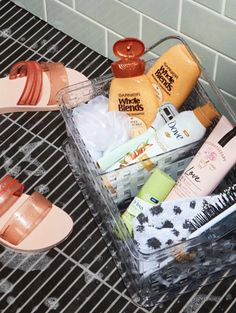 college Bathroom Decor Checked off your list! Weve got the best shower caddy essentials for your college student. Bathroom Caddy, Shower Caddy Dorm, College Shower Caddy, Shower Caddies, College Bathroom Decor, Dove Body Wash, Shower Shoes, Shower Basket, Shea Body Butter