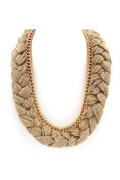 Braided Grace Necklace on Emma Stine Limited