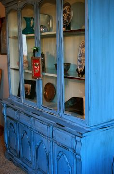 trash to treasure furniture makeovers | hutch makeover — Creations by Kara