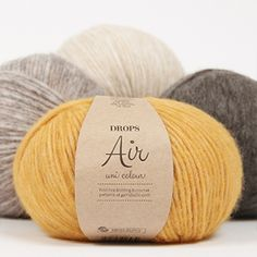 DROPS Air - A medium thick blow yarn made of baby alpaca and merino wool Drops Design, Baby Alpaca, Laine Drops, Drops Patterns, Recycled Denim, Alpacas, Cotton Lights, Winter Hats, Knitting