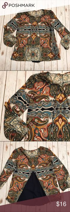 Pink Owl Bohemian Paisley Top Beautiful Top in excellent condition. Love the blue cutout in the back. So soft and so feminine and perfect for fall. Pink Owl Tops Blouses
